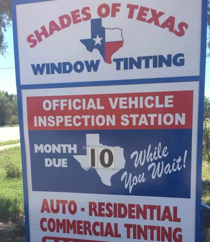 shades of texas window tinting official vehicle inspection station auto residential commercial tinting sign cedar park location auto car