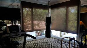 Window Shades by Shades of Texas  Austin Texas residential installation home gym