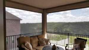 Motorized Shades by Shades of Texas  Austin Texas residential installation balcony