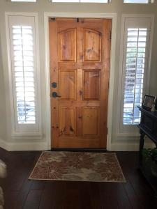 Window Shutters by Shades of Texas Austin Texas home installation office front door