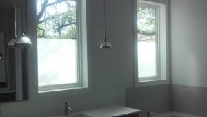 Frosted Window Tint by Shades of TexasAustin Texas home installation bathroom