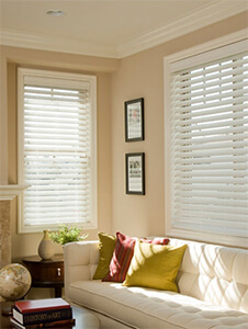Window Blinds by Shades of Texas  Austin Texas residential installation Norman Blinds living room