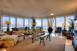 Residential Window Tinting - Caribe Living Room