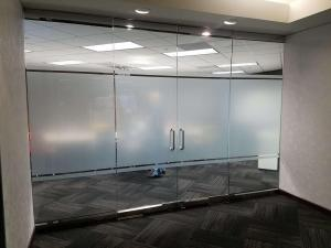 Frosted Window Tint by Shades of TexasAustin Texas commercial installation office