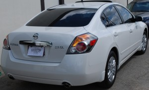 Auto Window Tinting by Shades of TexasAustin Texas white Nissan sedan