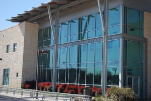 Window Tint by Shades of TexasAustin Texas commercial installation two story windows