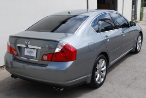 Auto Window Tinting by Shades of TexasAustin Texas silver Infiniti sedan