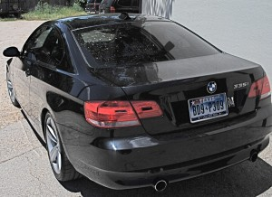 Auto Window Tinting by Shades of TexasAustin Texas black BMW sedan