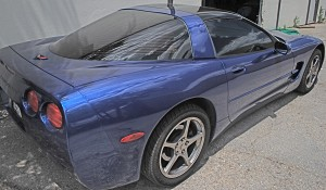 Auto Window Tinting by Shades of TexasAustin Texas blue corvette