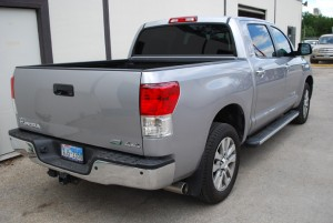 Auto Window Tinting by Shades of TexasAustin Texas silver Toyota truck