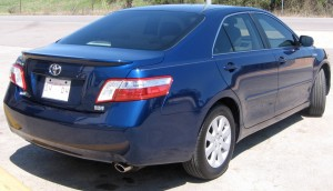 Auto Window Tinting by Shades of TexasAustin Texas blue Toyota sedan